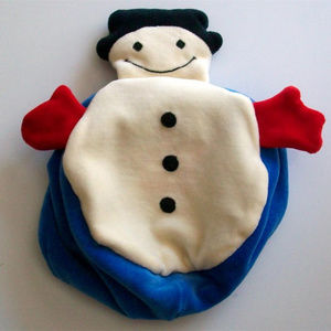 SNOWMAN BABY HAT NWT Reversible RICH FROG 2-IN-1